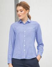 Ladies` Gingham Cofrex/Pufy Wicking Long Sleeved Shirt