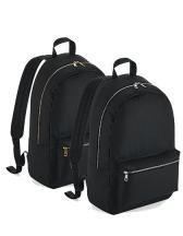 Metallic Zip Backpack